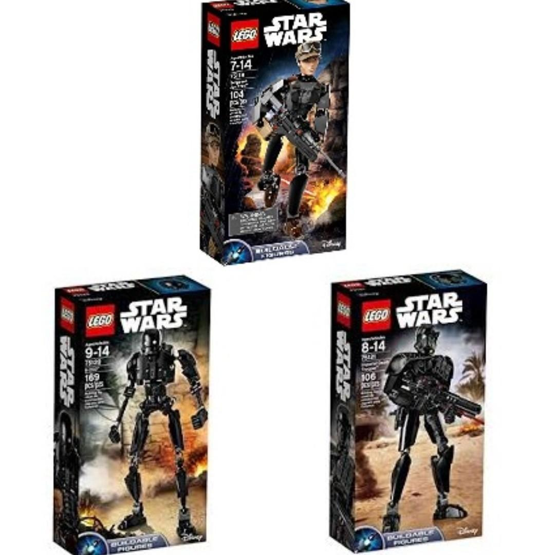 Lego Star Wars 75119 75120 75121 Build-able Figures Complete