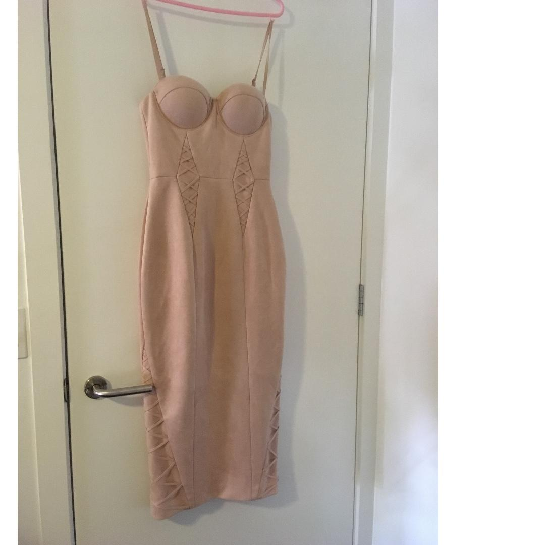 MISHA COLLECTION MIDI EVENING FORMAL DRESS Size Small