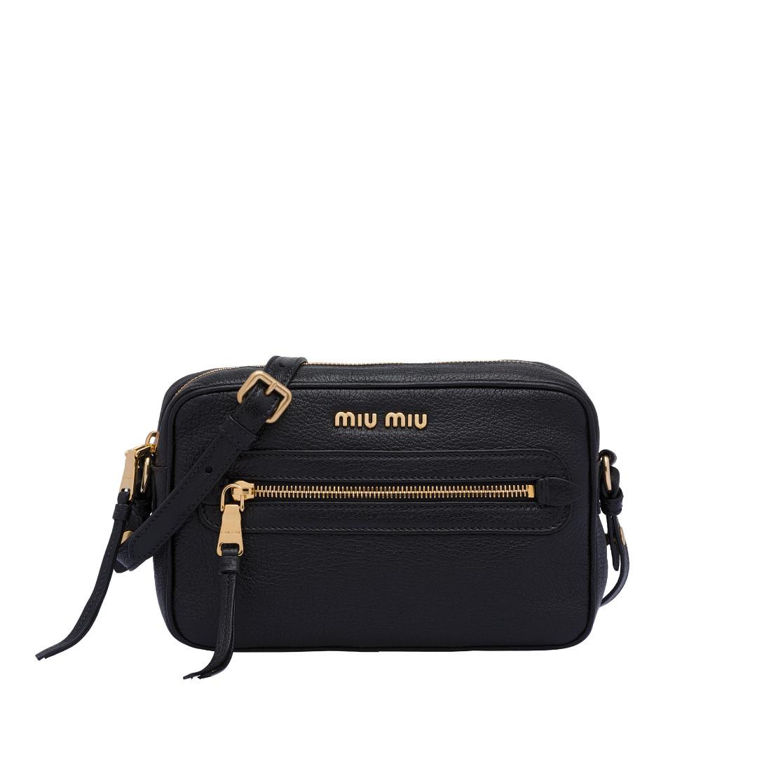0fa3d95b507d NEW ARRIVAL Miu Miu Leather Shoulder Bag 5BH116