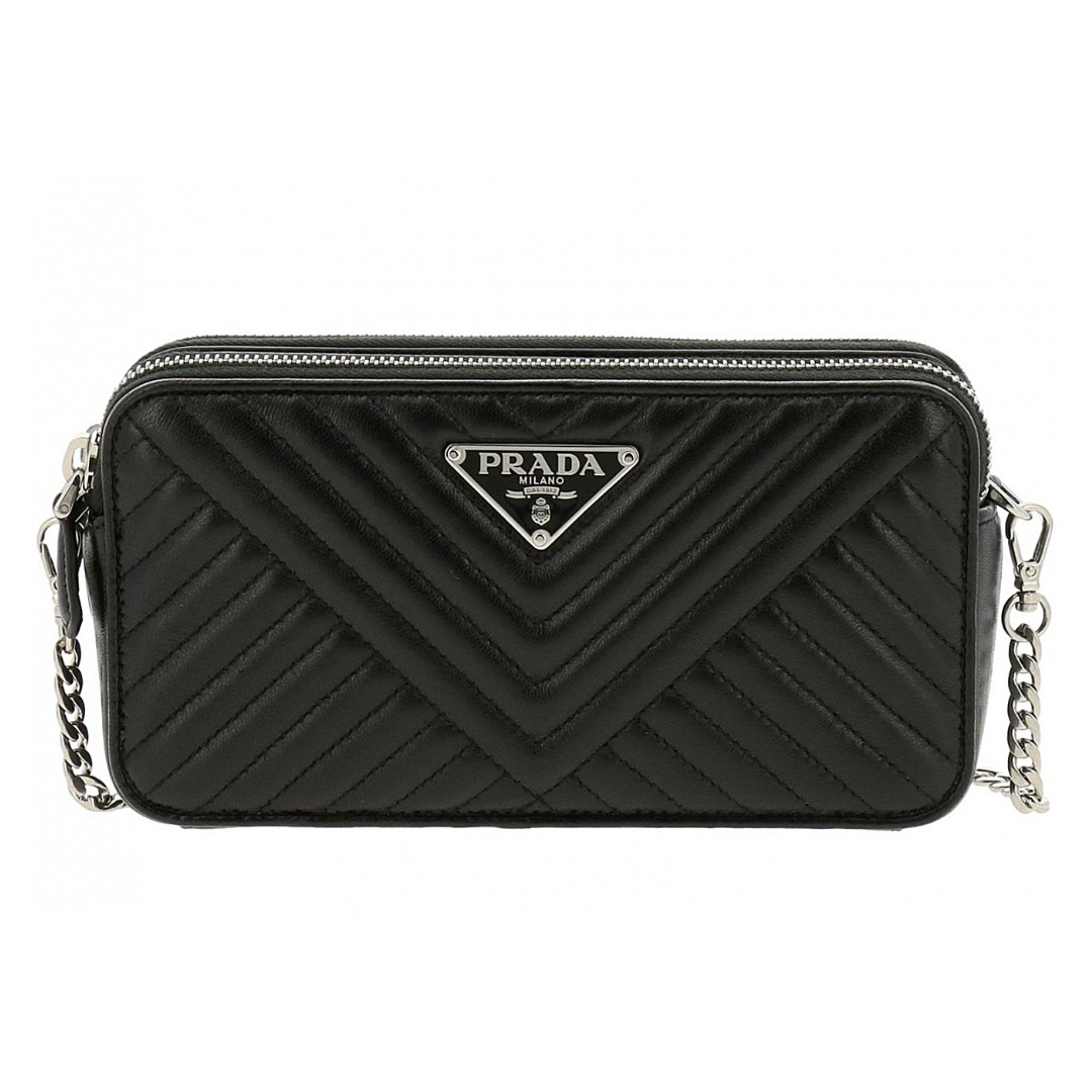 8566569310f5 NEW ARRIVAL PRADA Lambskin Quilted Small Crossbody Bag Silver ...