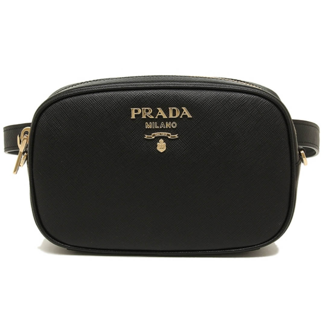 dcd0c235e985 NEW ARRIVAL Prada Saffiano Leather Belt Bag Black, Luxury, Bags ...