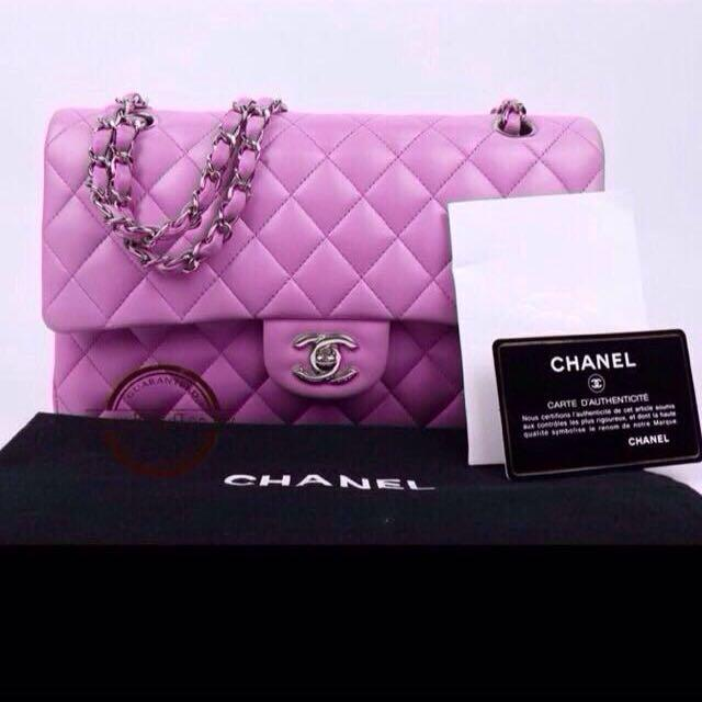 New Chanel lambskin double flap