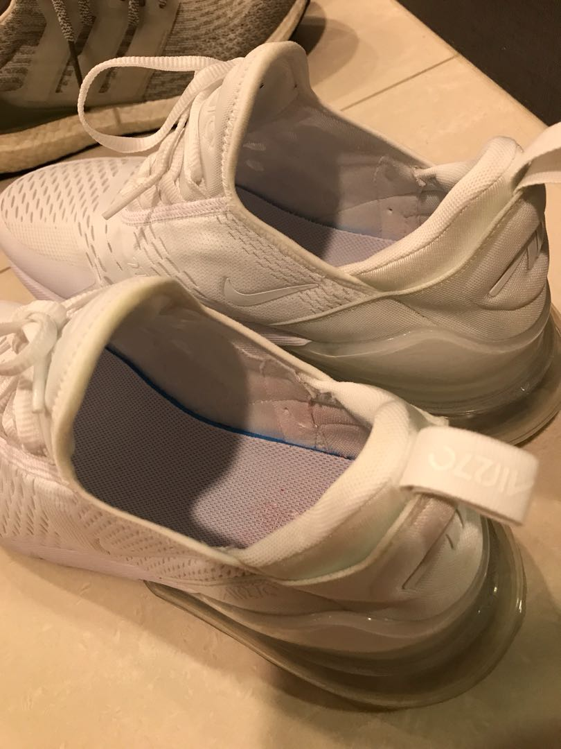 f09543a4cf9 Nike Air Max 270 Triple White, Men's Fashion, Footwear, Sneakers on ...