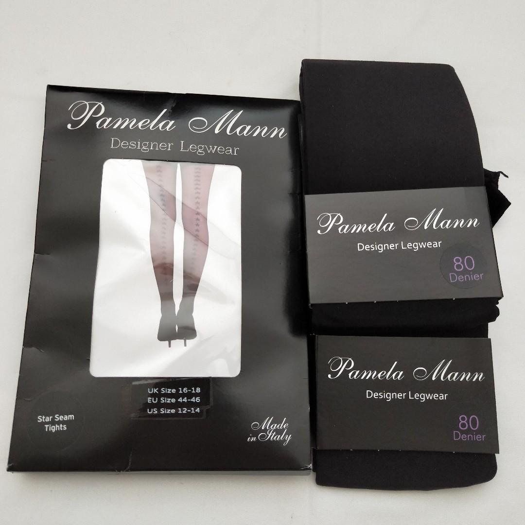 Pamela Mann Stocking Bundle - Star Seam Tights & 2 x Opaques Sz 16-18