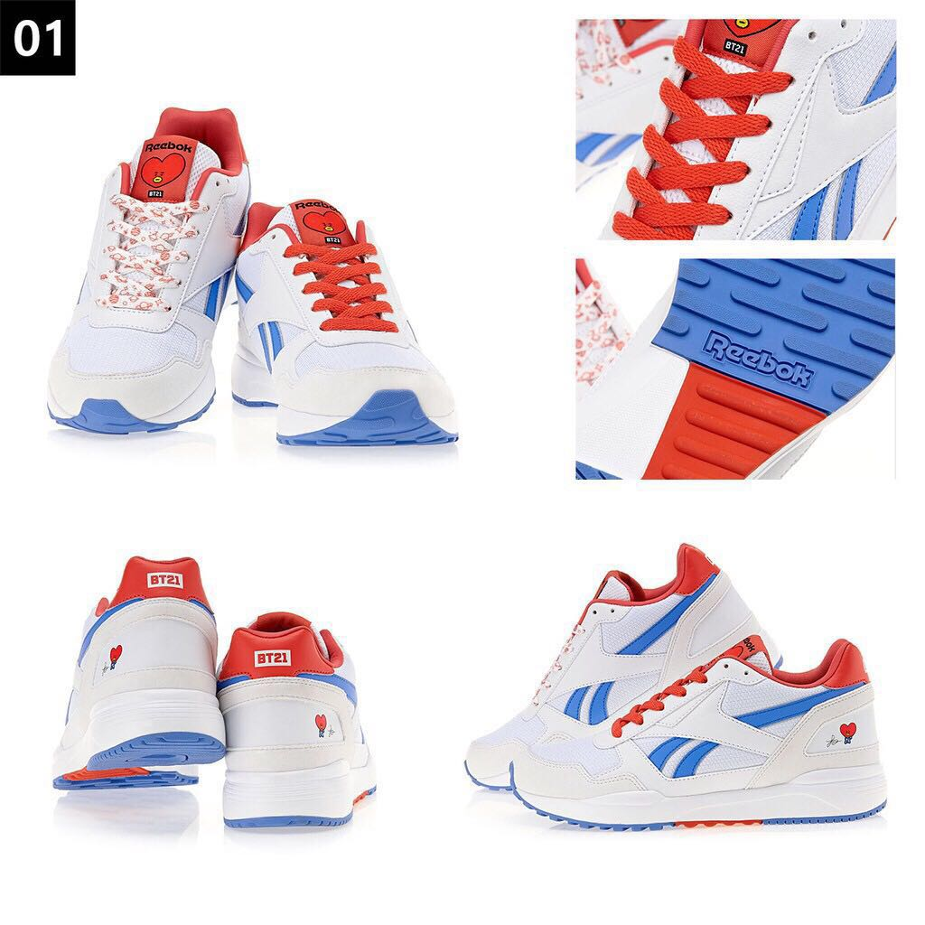 8cb42270a03 New Reebok x BTS BT21 OfficiaI Women s Royal Bridge 2.0 Shoes Sneakers -  MANG