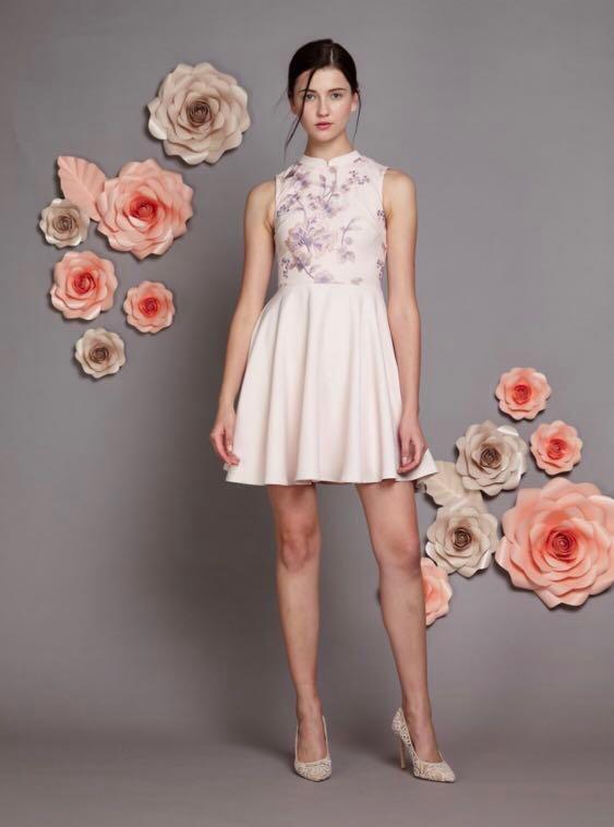 0edaab33d8f3 Quina Embroidered Mesh Cheongsam Dress (Lovengold), Women's Fashion ...