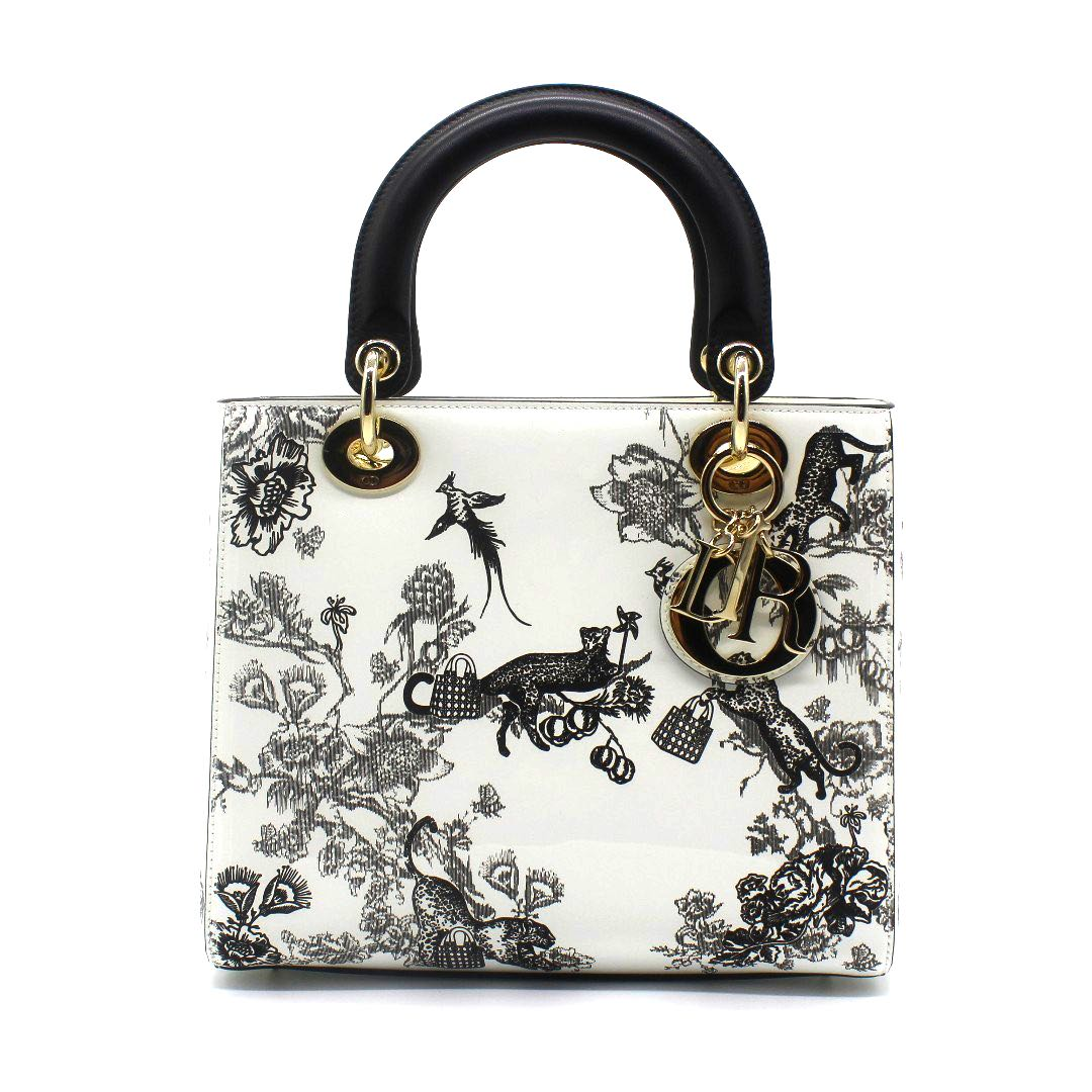 e9ffb1916c (RARE) Christian Dior Lady Dior Flower Printed Handbag (White), Luxury, Bags  & Wallets, Handbags on Carousell