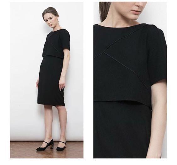 Simple Black Dress Fesyen Wanita Pakaian Wanita Gaun Rok Di Carousell