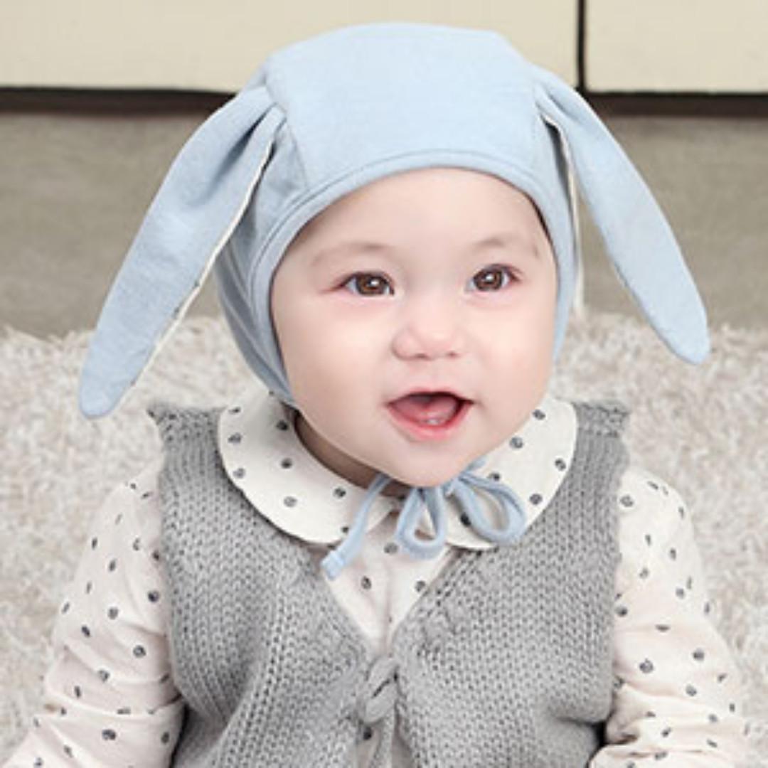 ✓️STOCK - PASTEL BLUE LONG BUNNY EARS UNISEX BABY BOY GIRL COTTON ... f28aee5a3fa