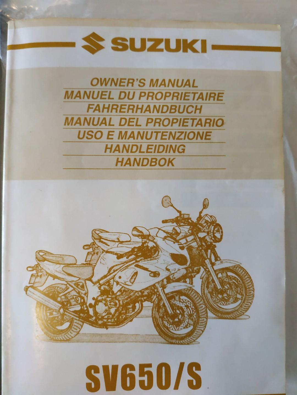 Suzuki sv650/s owners manual