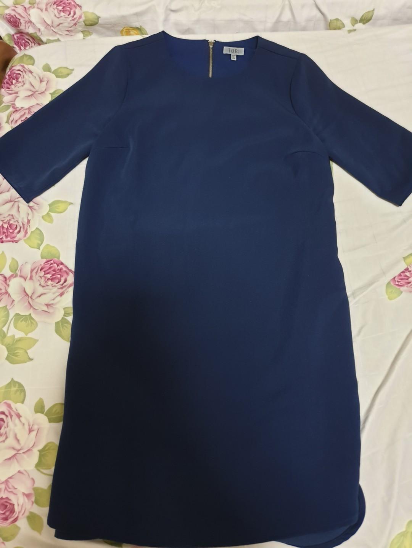 Tobi blue shift dress
