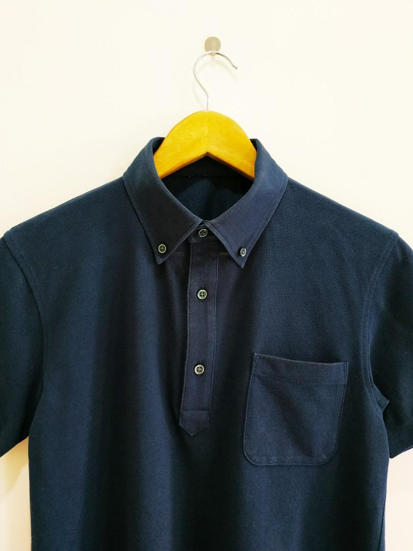 Uniqlo Collar Button Down Tee