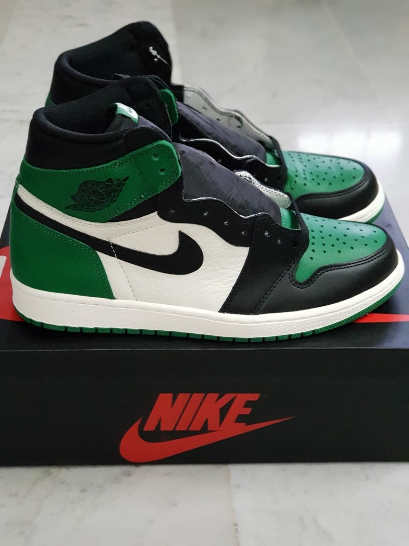 a3921e8b49fe4c US 10.5 Nike Air Jordan 1 Pine Green