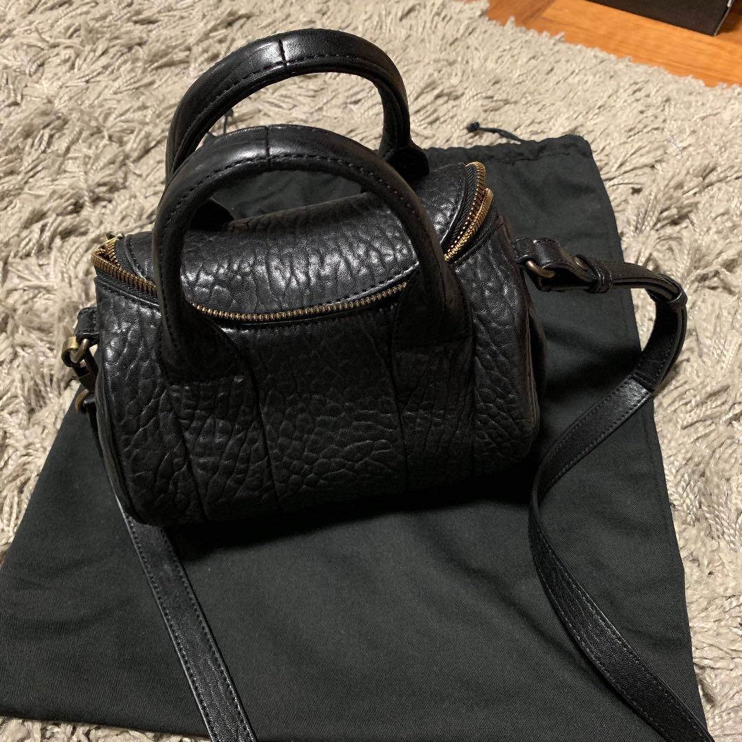 460ac49fd148e Used Alexander Wang Mini Rockie Sling Bag Pebbled Black