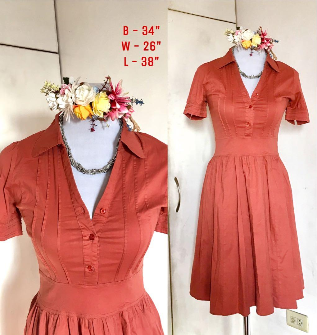 VINTAGE CLASSIC RETRO BROWN DRESS on Carousell
