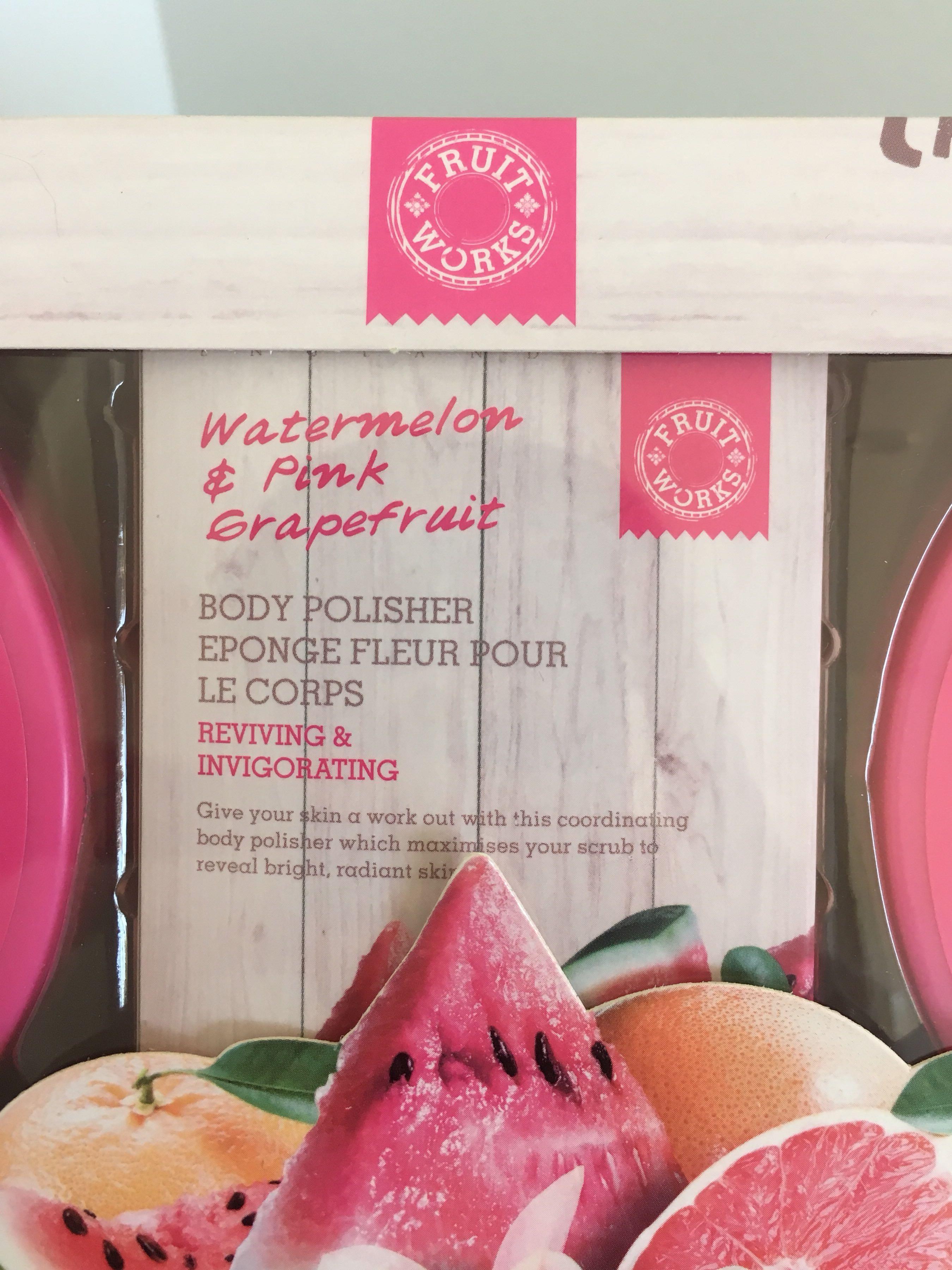 watermelon and pink grapefruit set