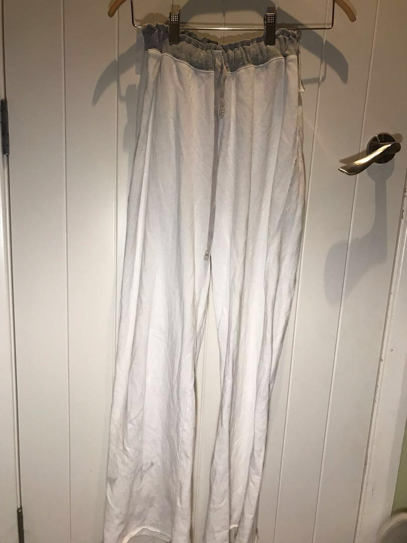 White flare pants size 14 $10