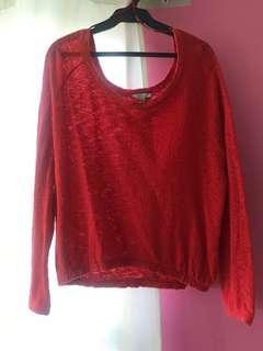 🌈Red Zara oversized sweater
