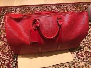 紅色LV樹紋旅行袋八成半新