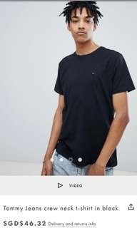 Tommy Hilfiger plain black t-shirt