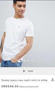 Tommy Hilfiger plain white t-shirt