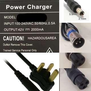 24v/36v/48v/52v charger for escooter