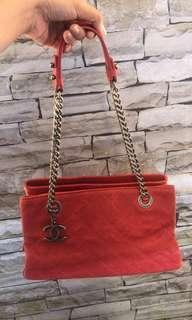 Chanel Red Timeless CC Tote bag