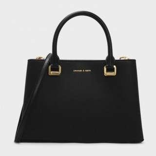 Charles and Keith Structured Top Handle Bag