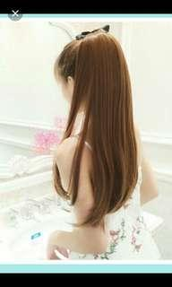 Instock Ribbon tie on light brown  ponytail hair extension *brand new * chat to buy if int