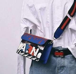 Graffiti Korean Blue Trend Sling bag