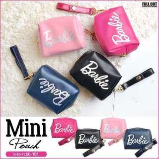 全新四款顏色 Barbie mini pouch 芭比手挽袋 化妝袋 小手包