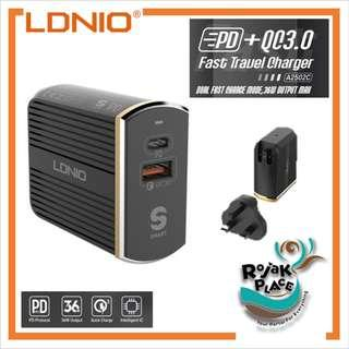 LDNIO A2502C PD QC 3.0 Fast Charging Charger Adapter