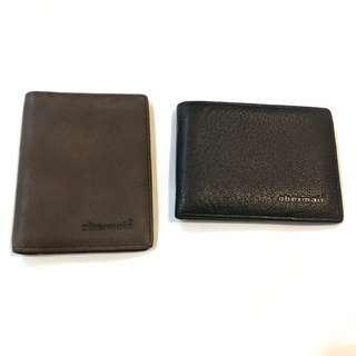 Obermain Leather Card Holder Unisex Brown & Black