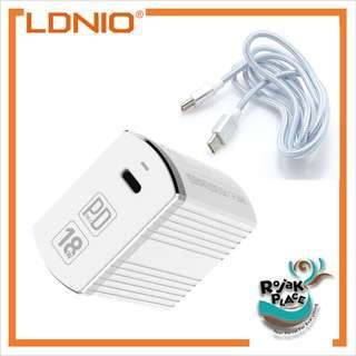 LDNIO A1302Q-C QC3.0 PD Type C Output Fast Charger Adapter