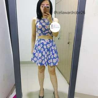 OS - 048 ONE SET SHIFA CROP TOP AND MINI SKIRT IMPORT