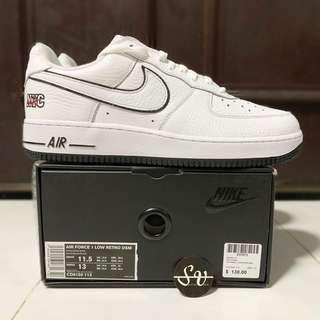 US 11.5 Nike Air Force 1 x DSM New York Retro White