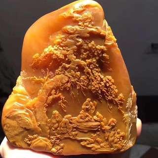 收藏級-精雕田黃