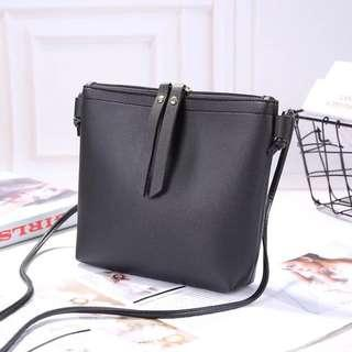 Instock Ladies Sling Bag with Zip Mini Small Compact Wallet Phone Holder Casual Basic Simple
