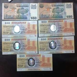 7 Piece Singapore $50