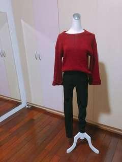 🚚 韓版紅色可愛造型袖子上衣