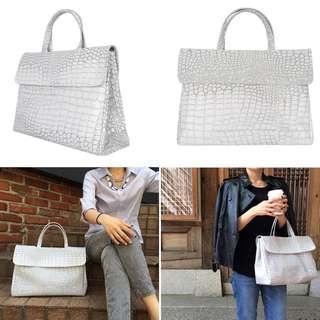 KWANI - White Croc Bag (Medium)