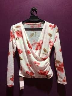 Floral Wrap Blouse #precny60