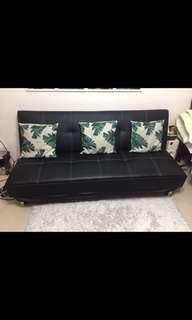 3-Seater Sofa Bed (Leather)