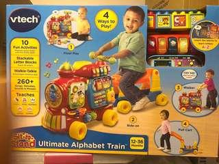 🚚 VTech Sit-to-Stand Ultimate Alphabet Train ride on / walker / pull cart / blocks