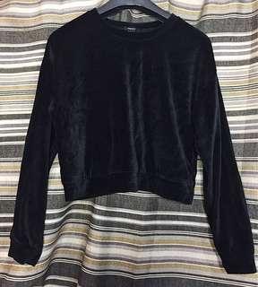 Forever 21 Black Velvet Sweater