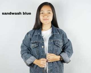 Jaket denim sandwash