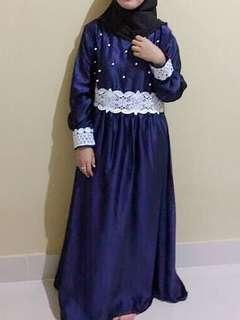 Dress mutiara navy