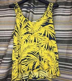H&M Yellow Hanging Sleeveless Top