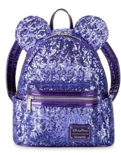 e133f4a4d17 Minnie Mouse Potion Purple Sequined Mini Backpack by Loungefly