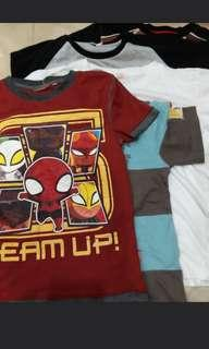 tops for  boys aged 4 to 7 yrs old